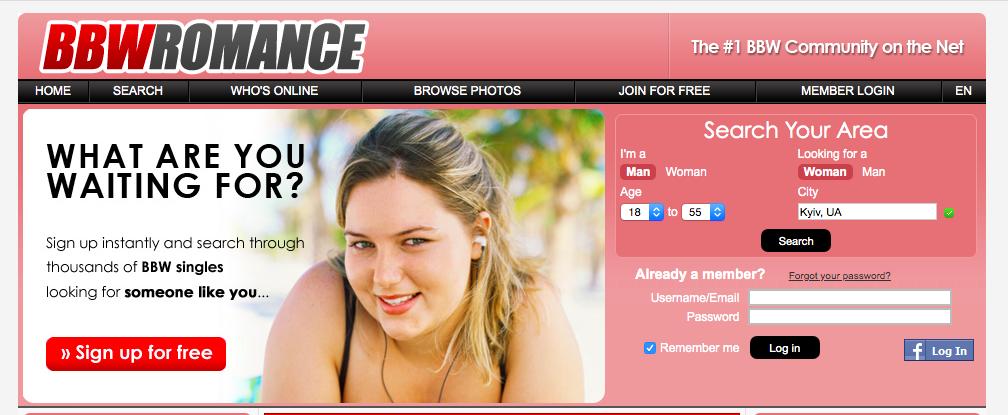 main page BBWRomance