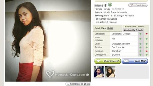 IndonesianCupid profile